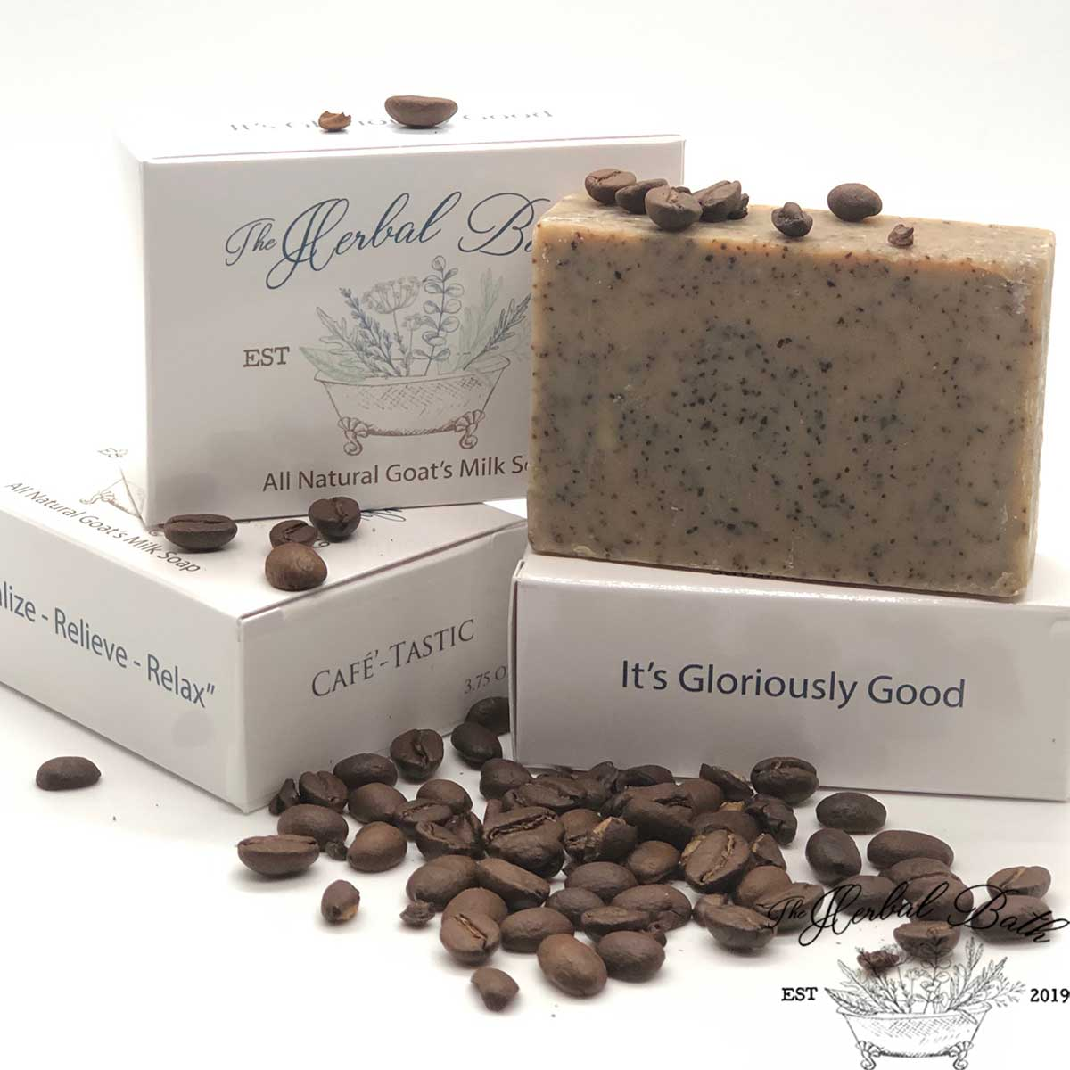 Odor reducing coffee soap