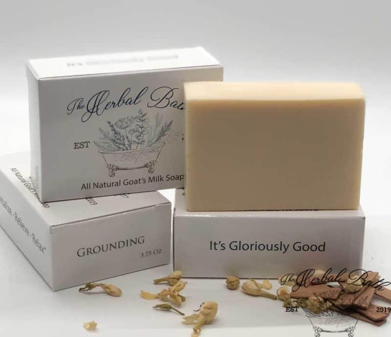grounding goat's milk soap
