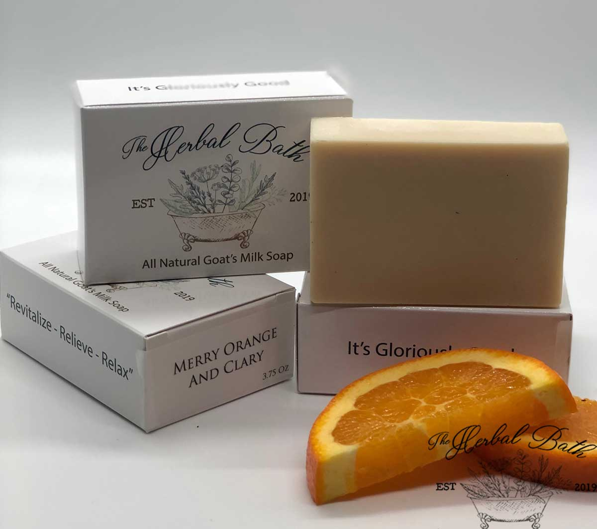 Merry Orange and Clary soap
