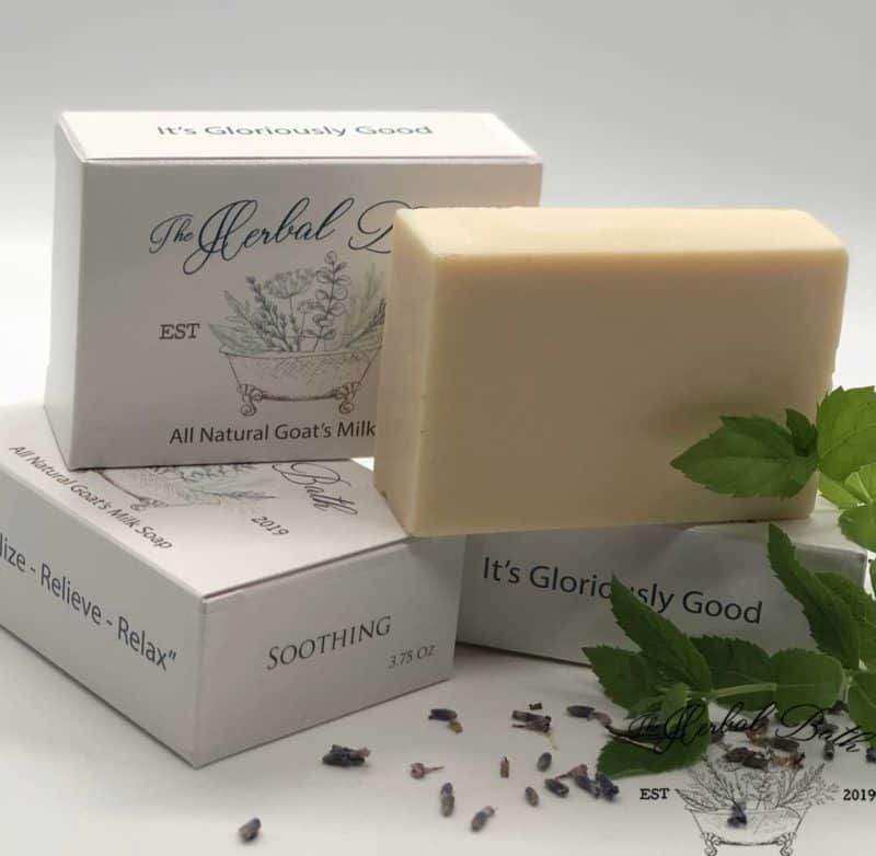 soothing goat's milk soap