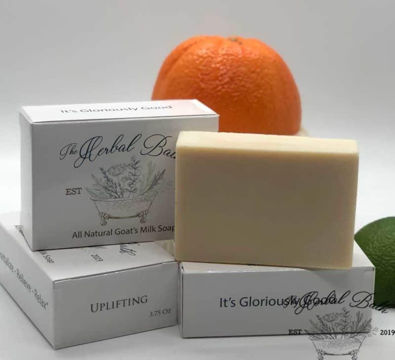uplifting goat's milk soap soap