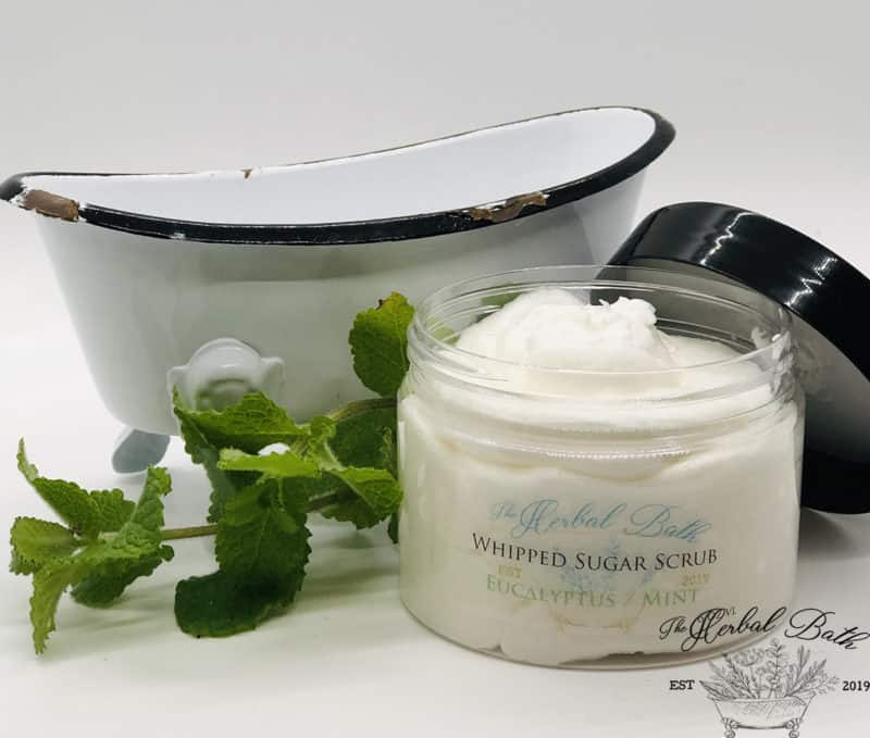 whipped sugar scrub eucalyptus mint