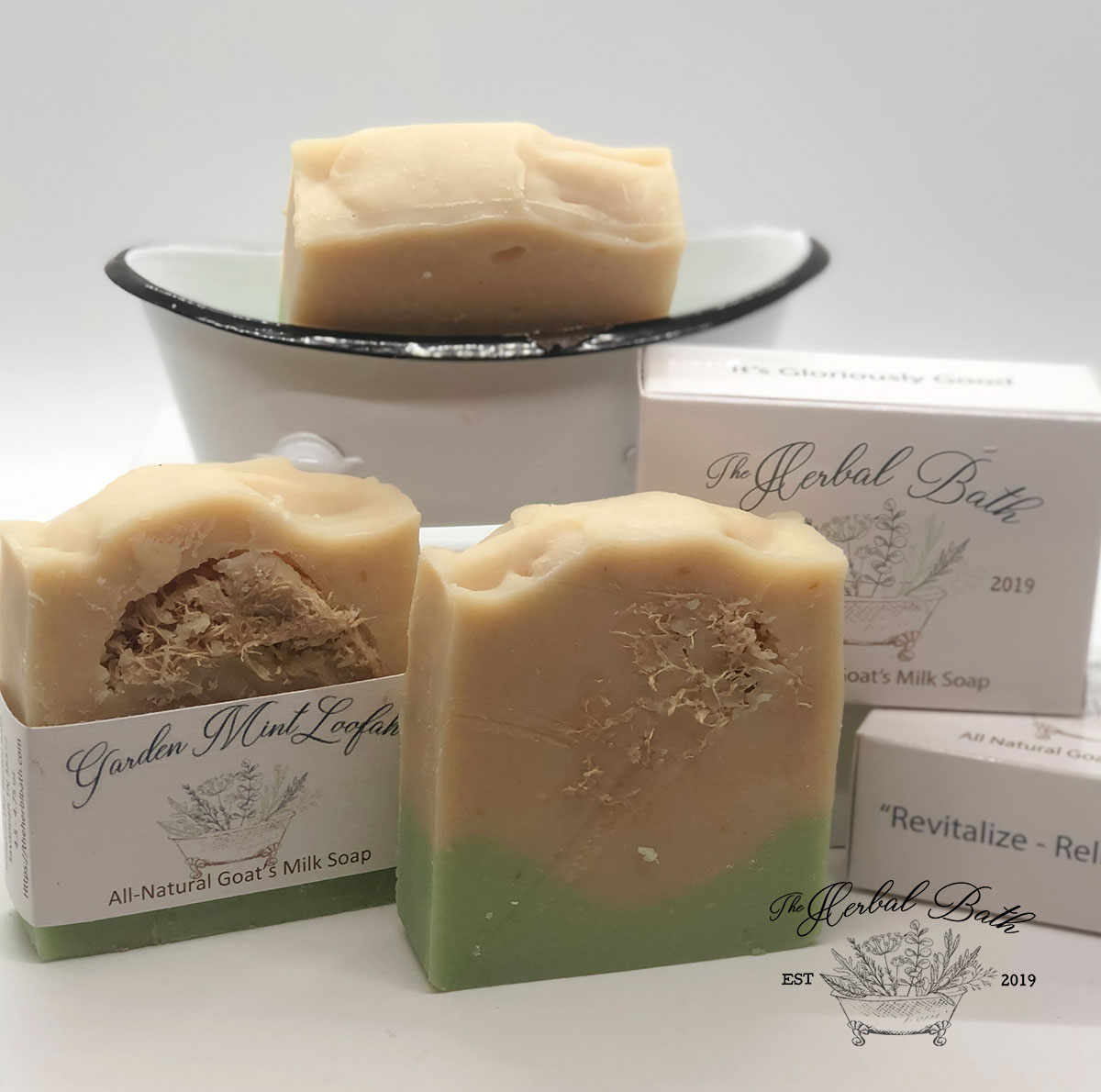 Garden Mint Loofah Soap