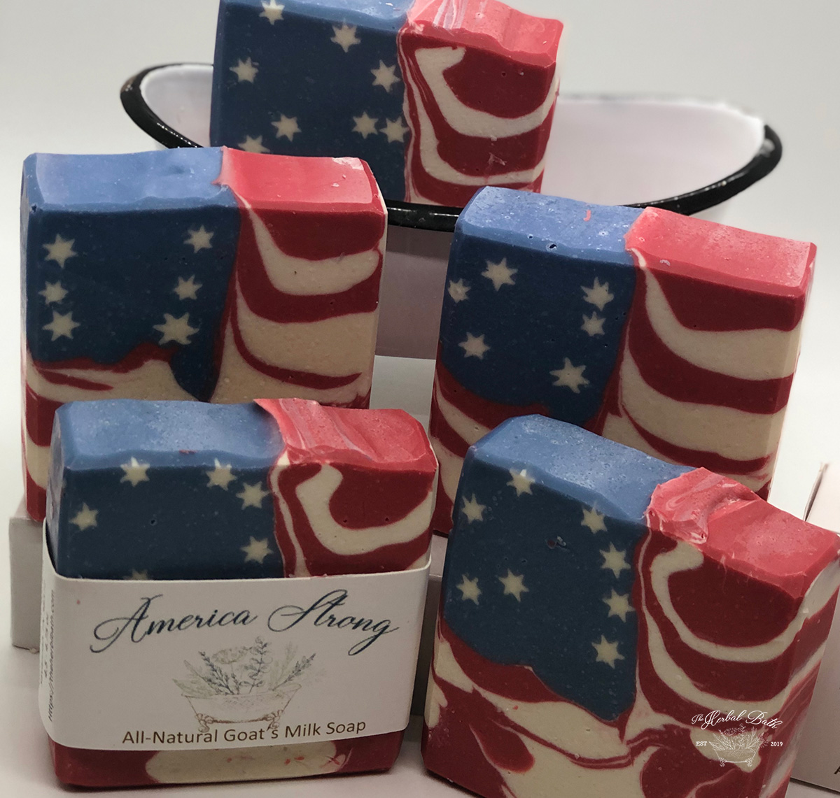 America Strong goats milk soap