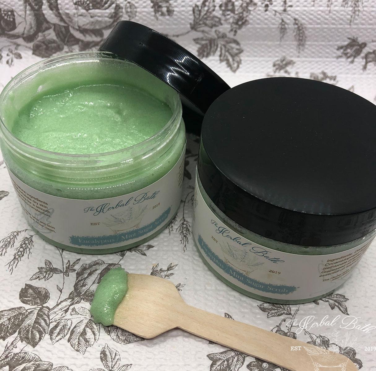 Eucalyptus mint sugar scrub