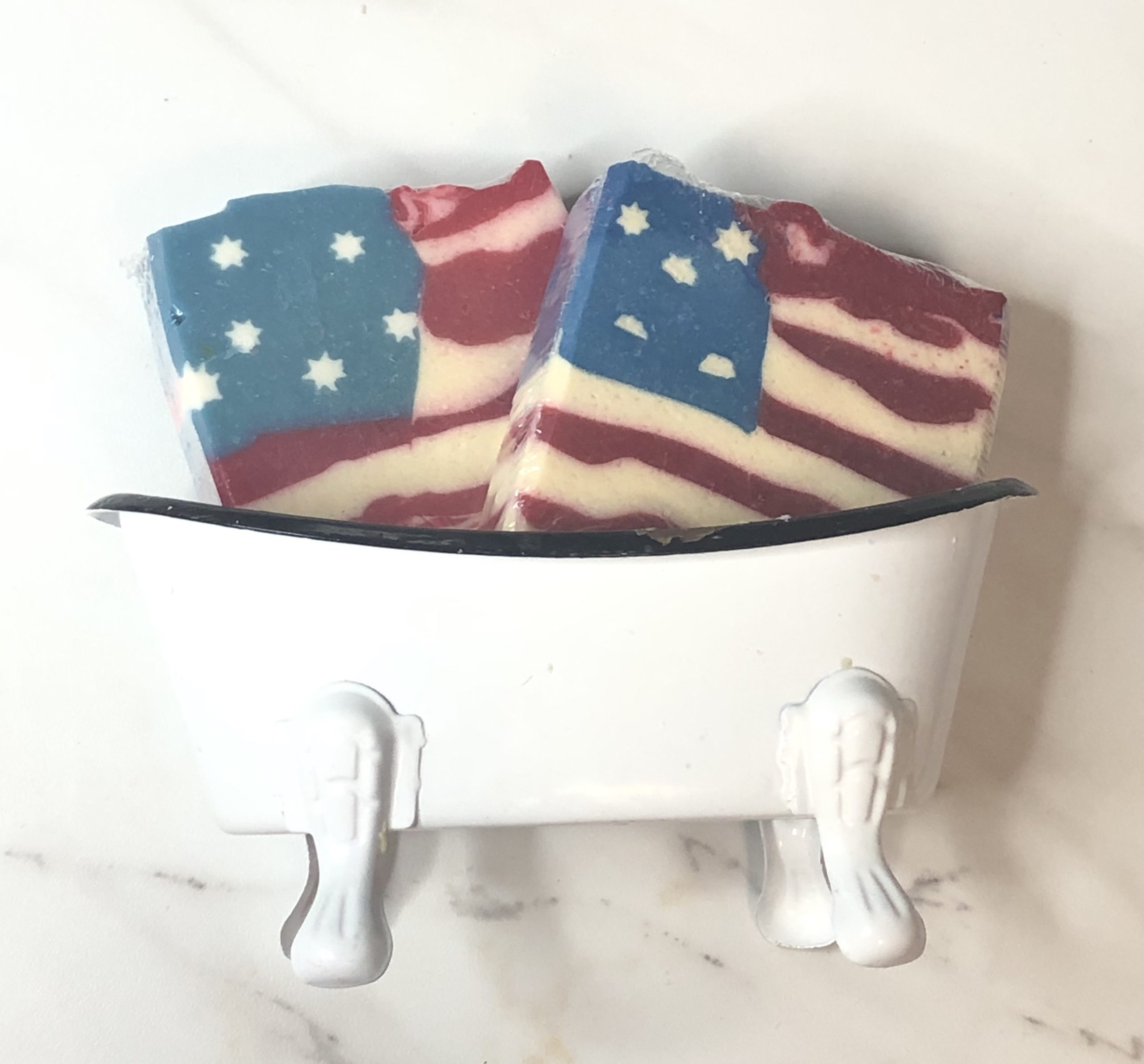 America Strong goats milk soap
