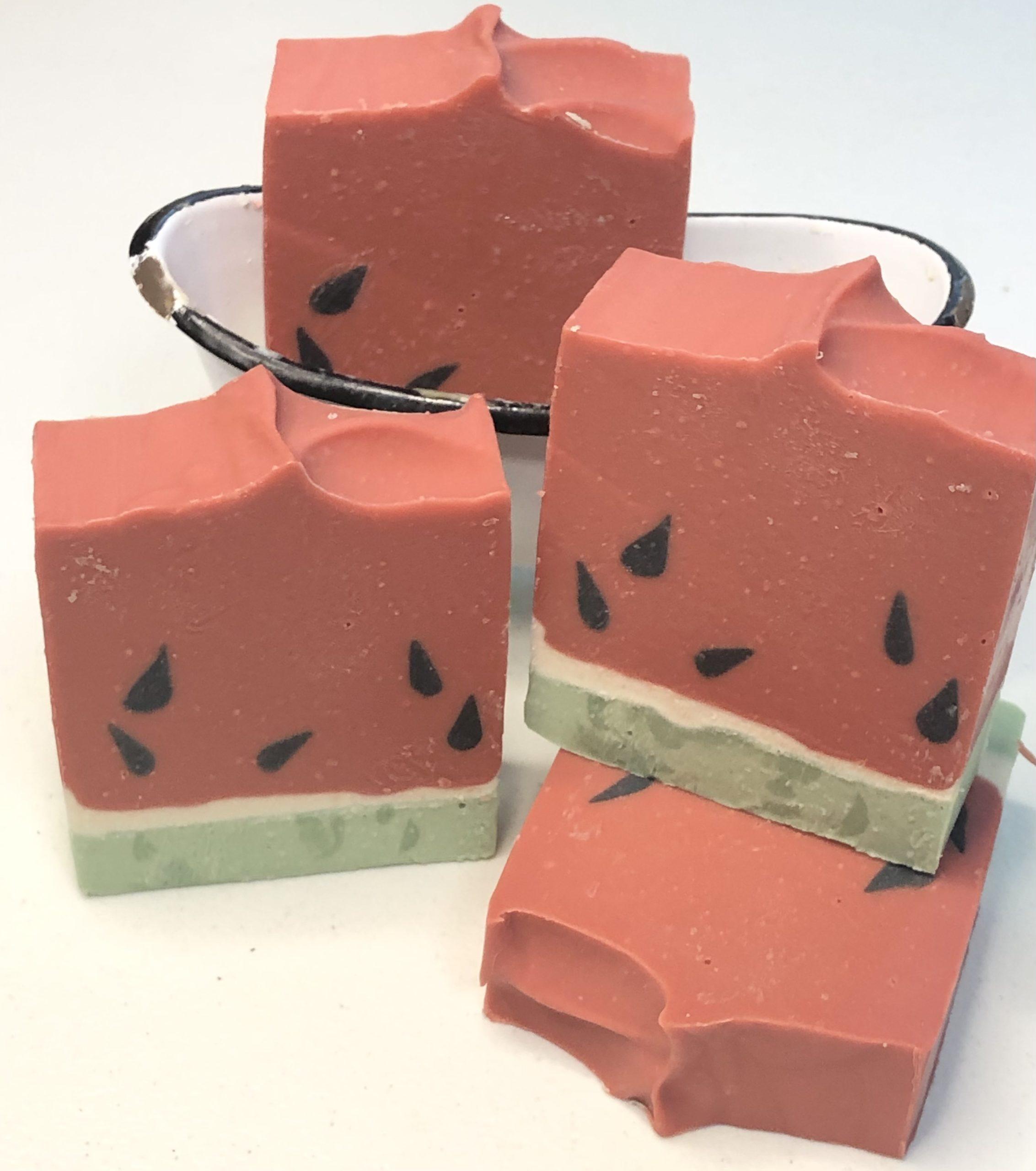 Watermelon Goats milk soap